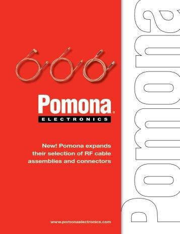 Pomona RF Cable Assemblies and Connectors - Pomona Electronics