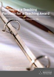 Developing a Teaching Portfolio for a Teaching Award