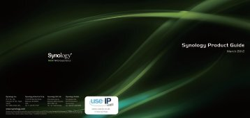Synology Product Guide 2012 - Use-IP