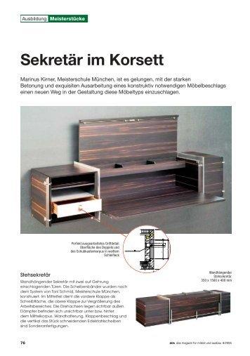 Sekretär im Korsett - Meisterschule Schreiner München