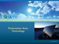 Photovoltaic Solar Technology - SEIA