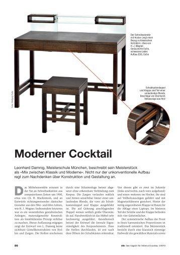 Moderner Cocktail - Meisterschule Schreiner München