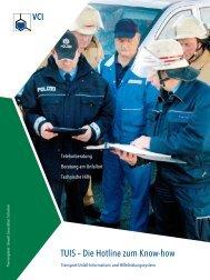 TUIS – Die Hotline zum Know-how - ABC-Einsatzhandbuch