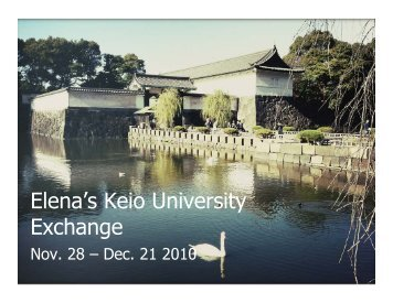 Elena's Keio University Exchange: November 28 – December 21 ...