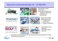 Exkursion im Sommersemester 22. – 23. Mai 2013 - Lehrstuhl für ...