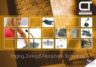 Paging, Zoning & Microphone Technology - CIE-Group