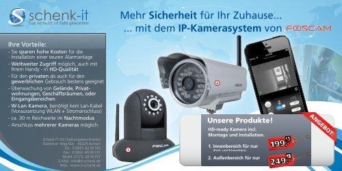 IP-Videoüberwachung, Überwachungslösungen ... - Schenk-IT