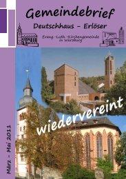 Gemeindebrief 2011März-Mai - in der Kirchengemeinde ...