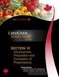 SECTION 10 - Saskatchewan Grocery Retail and Foodservice Value ...