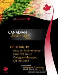 SECTION 12 - Saskatchewan Grocery Retail and Foodservice Value ...