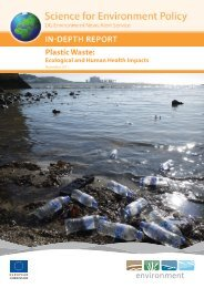 Plastic Waste: Ecological and Human Health Impacts, EU 2011