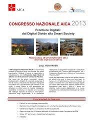 Call for Paper Congresso AICA 2013