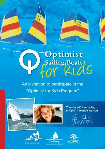 Optimist Sailing Boats for Kids - Boating Industry Association of NSW