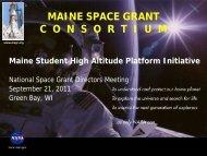 MAINE SPACE GRANT C  O  N  S  O  R  T  I  U  M - National Council ...