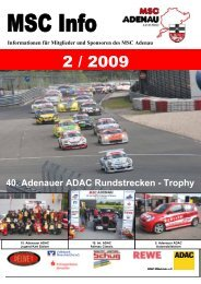 40. Adenauer ADAC Rundstrecken -  Trophy - MSC Adenau e. V.