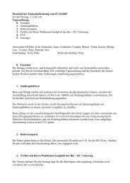 Fachschaftsratsitzung vom 07.10.2009 - Fachschaft Chemie