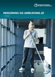 RengøRing og aRbejdsmiljø - BAR - service og tjenesteydelser.