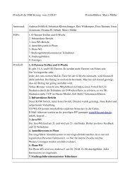 Protokoll der FSRSitzung vom 22.08.07 Protokollführer: Marco ... - FSE
