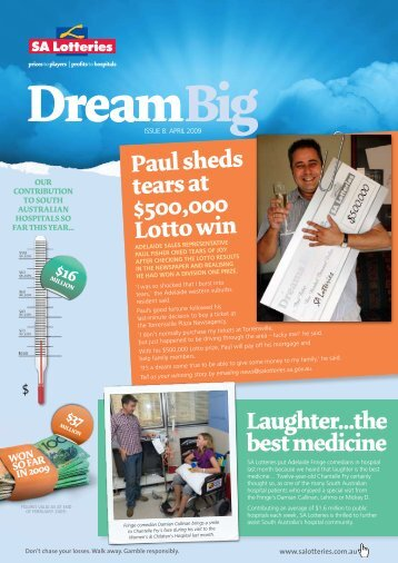 Paul sheds tears at $500,000 Lotto win Laughter...the ... - SA Lotteries