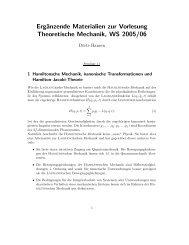 Hamiltonsche Mechanik, kanonische Transformationen und ...