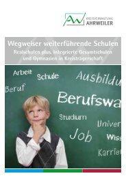 Wegweiser weiterführende Schulen Ausgabe 3 - Schuljahr 2014/2015
