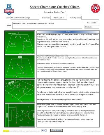 2 Page Color Extended Training Session - Soccer Champions ...