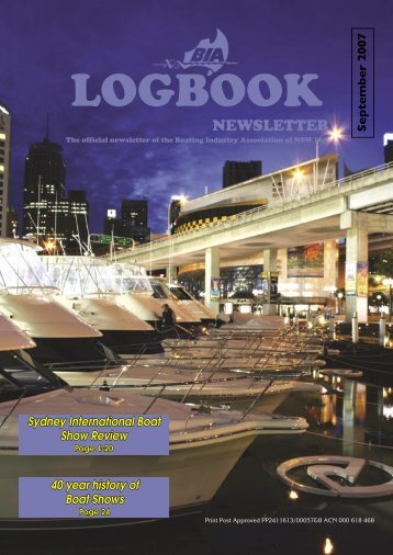 BIA Logbook Sep'07-fin.indd - Boating Industry Association of NSW