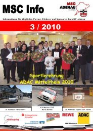 Sportlerehrung ADAC Mittelrhein 2010 - MSC Adenau e. V.