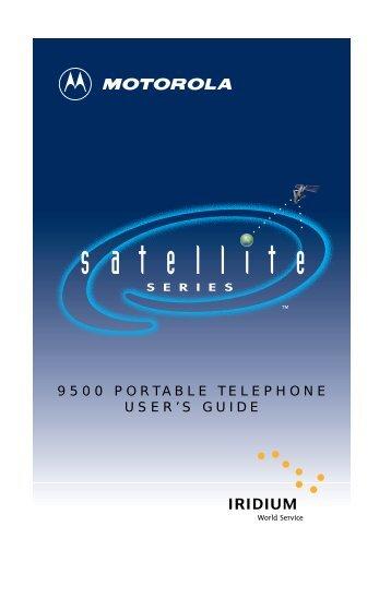 9500 PORTABLE TELEPHONE USER'S GUIDE - VPR SRI Field ...
