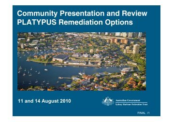 View the community presentation on remediation options provided ...