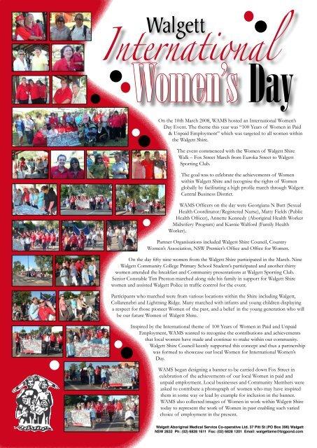 International Women's Day 08 - Walgett - WAMS