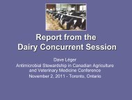 Dairy Cow Concurrent Report - Antimicrobial Stewardship in ...