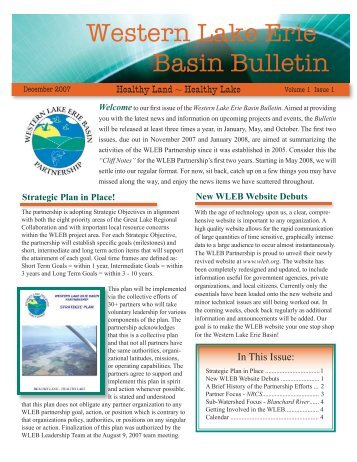 December 2007 - Western Lake Erie Basin Partnership