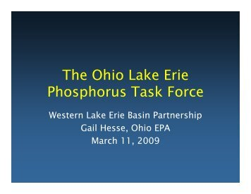 Ohio Phosphorus Task Force - Western Lake Erie Basin Partnership