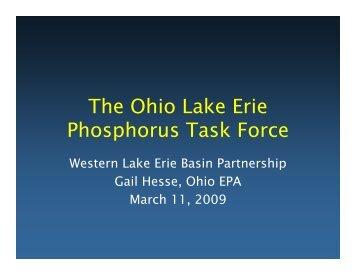 Ohio Phosphorus Task Force - Western Lake Erie Basin Partnership