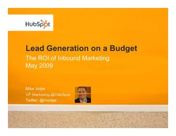 Lead Generation on a Budget