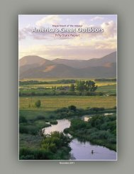 America's Great Outdoors Fifty-State Report - US Department of the ...