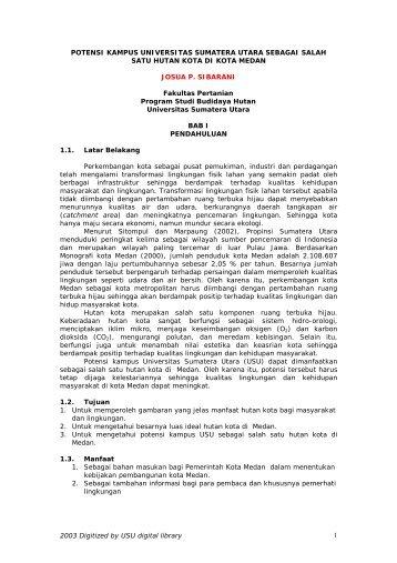 BAB I - USU Library - Universitas Sumatera Utara