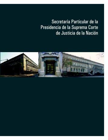 Secretaría Particular de la Presidencia de la Suprema Corte de ...