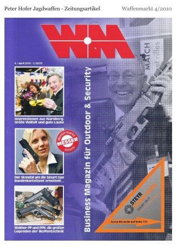 Peter Hofer Zeitungsartikel - Peter Hofer Jagdwaffen