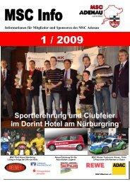 Sportlerehrung und Clubfeier im Dorint Hotel ... - MSC Adenau e. V.