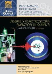 QUIMILASER 3ª Edición 2007-2008 - Instituto de Estructura de la ...