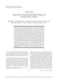 Expression of Extracellular Matrix Proteins in Ovarian Serous Tumors