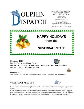 Dolphin DispatchDecember10.pub - Silverdale Elementary School