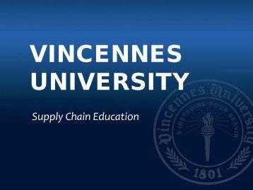 VINCENNES UNIVERSITY - Indiana Logistics