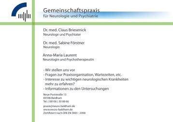 Praxisbroschüre - Praxis Dr.med. Briesenick