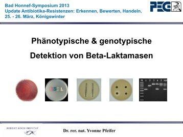 Phänotypische & genotypische Detektion von ... - PEG-Symposien