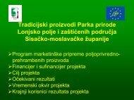 Tradicijski proizvodi Parka prirode Lonjsko polje i zaštićenih ...