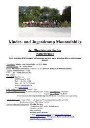 Kinder- und Jugendcamp Mountainbike - Termine... - Naturfreunde