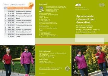 Sprechstunde Lebensstil und Gesundheit - Klinikum  rechts der Isar ...